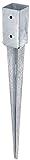GAH-Alberts 211271 Einschlag-Bodenhülse für Vierkantholzpfosten, feuerverzinkt, 71 x 71 mm / 750 mm