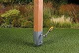 GAH-Alberts 211271 Einschlag-Bodenhülse für Vierkantholzpfosten, feuerverzinkt, 71 x 71 mm / 750 mm - 5