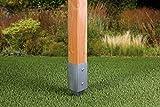GAH-Alberts 211271 Einschlag-Bodenhülse für Vierkantholzpfosten, feuerverzinkt, 71 x 71 mm / 750 mm - 6