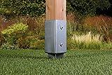 GAH-Alberts 211271 Einschlag-Bodenhülse für Vierkantholzpfosten, feuerverzinkt, 71 x 71 mm / 750 mm - 8