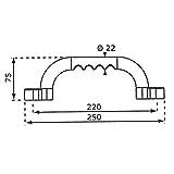Handgriffe Haltegriffe 235mm für Spielturm - 2