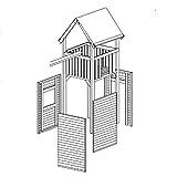 Wandelemente für Gartenpirat Premium Spielturm S, M, L und XL