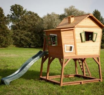 Axi Max Kinder Spielhaus mit Rutsche hinten