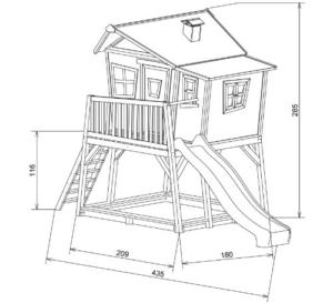 Axi Max Stelzenhaus mit Rutsche Maße