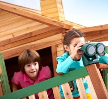 Axi Max Kinder Spielhaus mit Rutsche oben