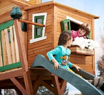 Axi Max Kinder Spielhaus mit Rutsche seite