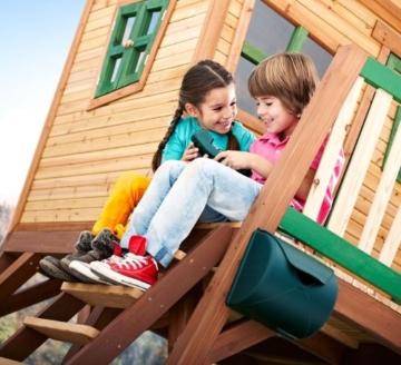 Axi Max Kinder Spielhaus mit Rutsche side