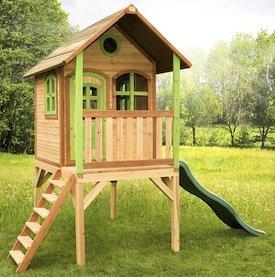 Axi Kinder Spielhaus Laura mit Terrasse - Stelzenhaus hoch - 1