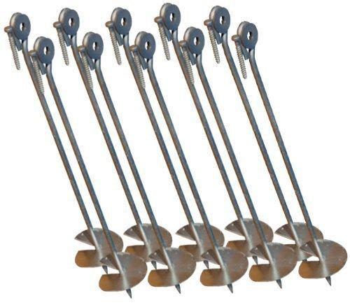 Bodenanker für Schaukelpfosten extra lang (10er-Set) - 1