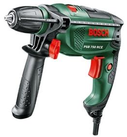 Bosch DIY Schlagbohrmaschine PSB 750 RCE, Tiefenanschlag, Zusatzhandgriff, Koffer (750 Watt, max. Bohr-Ø: Holz: 30 mm, Beton: 14 mm) - 1