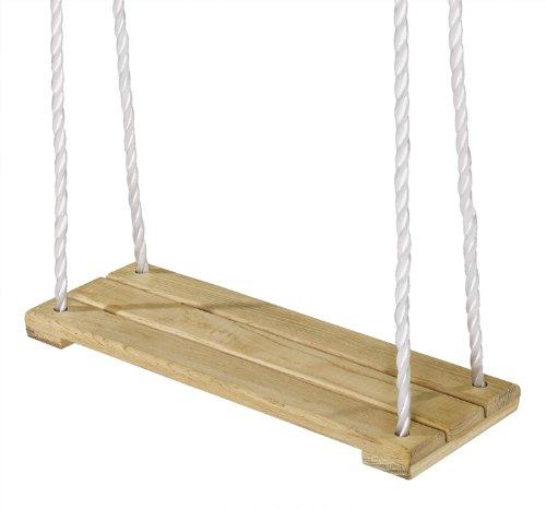 Eichhorn 100004503 - Outdoor, Holz- Brettschaukel, höhenverstellbar 140-210 cm, bis 60 kg - 3