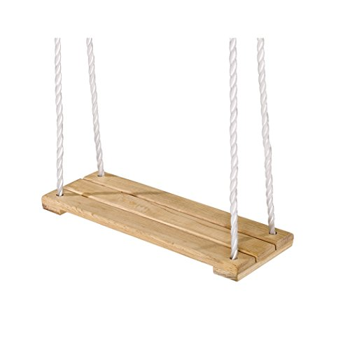 Eichhorn 100004503 - Outdoor, Holz- Brettschaukel, höhenverstellbar 140-210 cm, bis 60 kg - 1