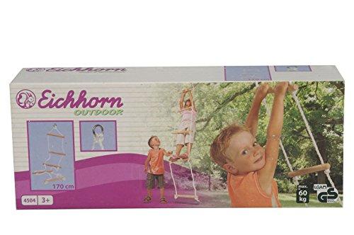 Eichhorn 100004504 - Outdoor Strickleiter aus Holz - TÜV/GS geprüft - Länge: 170cm - 2