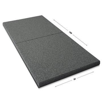 Fallschutzmatten Play Protect Plus | extragroß | grau | made in Germany | einzeln oder im 2er Set (2 Stück: 100 x 100 cm) - 2