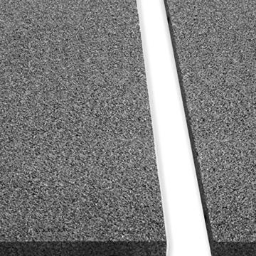 Fallschutzmatten Play Protect Plus | extragroß | grau | made in Germany | einzeln oder im 2er Set (2 Stück: 100 x 100 cm) - 3