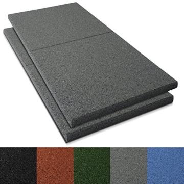 Fallschutzmatten Play Protect Plus   extragroß   grau   made in Germany   einzeln oder im 2er Set (2 Stück: 100 x 100 cm) - 1