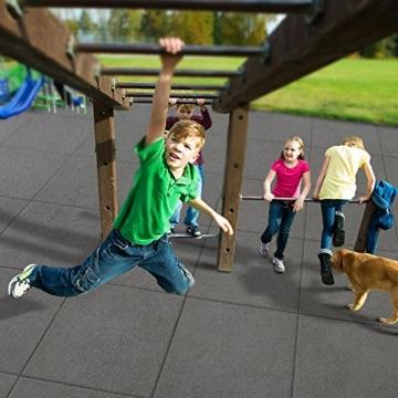 Fallschutzmatten Play Protect Plus | extragroß | grau | made in Germany | einzeln oder im 2er Set (2 Stück: 100 x 100 cm) - 5