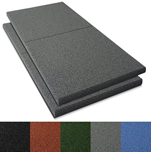 Fallschutzmatten Play Protect Plus | extragroß | grau | made in Germany | einzeln oder im 2er Set (2 Stück: 100 x 100 cm) - 1