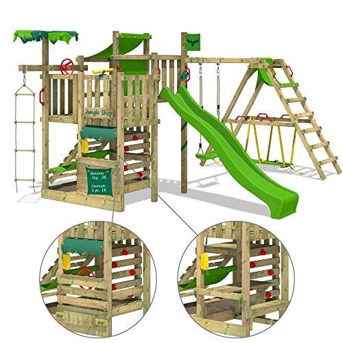 FATMOOSE BananaBeach Big XXL Spielturm Kletterturm mit Surfanbau Schaukel und Rutsche - 2