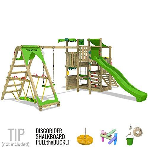 FATMOOSE BananaBeach Big XXL Spielturm Kletterturm mit Surfanbau Schaukel und Rutsche - 3