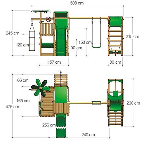 FATMOOSE BananaBeach Big XXL Spielturm Kletterturm mit Surfanbau Schaukel und Rutsche - 5