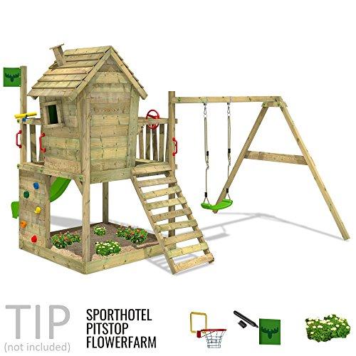 FATMOOSE DonkeyDome Double XXL Spielturm Stelzenhaus Kletterturm Baumhaus mit Schaukel und Rutsche - 4
