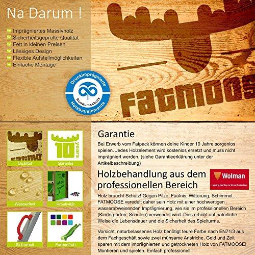 FATMOOSE DonkeyDome Double XXL Spielturm Stelzenhaus Kletterturm Baumhaus mit Schaukel und Rutsche - 6