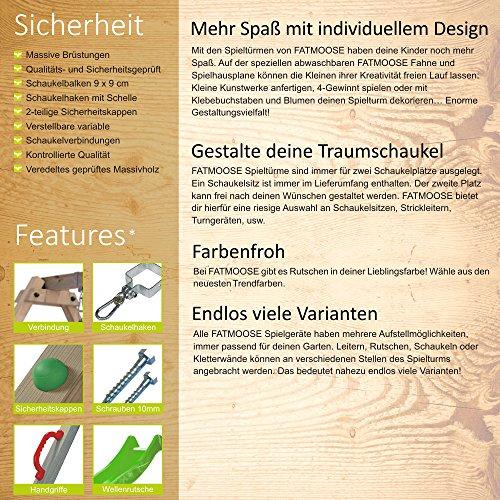 FATMOOSE DonkeyDome Double XXL Spielturm Stelzenhaus Kletterturm Baumhaus mit Schaukel und Rutsche - 7