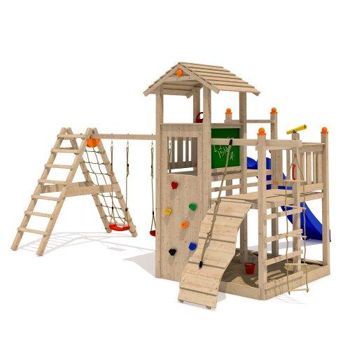 ISIDOR Fluppy Flu Spielturm Kletterturm großer Sandkasten Rutsche 2 Schaukeln (erweiterter Schaukelanbau inkl 2 Schaukeln) - 2