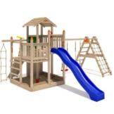 ISIDOR Fluppy Flu Spielturm Kletterturm großer Sandkasten Rutsche 2 Schaukeln (erweiterter Schaukelanbau inkl 2 Schaukeln) - 1