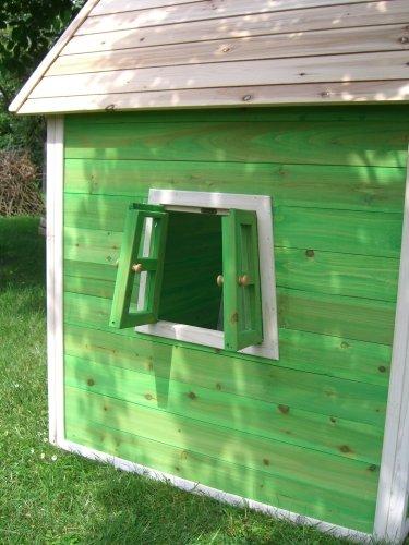 Kinderspielhaus Stelzenhaus aus Holz mit Rutsche - 6