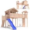PONTICULUS Spielturm Stelzenhaus Baumhaus Rutsche Schaukel 2 Meter Podesthöhe - 1