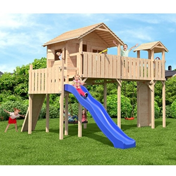 spielturm mit schaukel und rutsche fatmoose spielturm wackyworld mega xxl kletterturm baumhaus. Black Bedroom Furniture Sets. Home Design Ideas