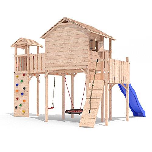 PONTICULUS Spielturm Stelzenhaus Baumhaus Rutsche Schaukel 2 Meter Podesthöhe - 5