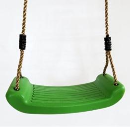 Schaukelsitz Schaukelbrett Kunststoff Farbe grün von Gartenpirat® - 1