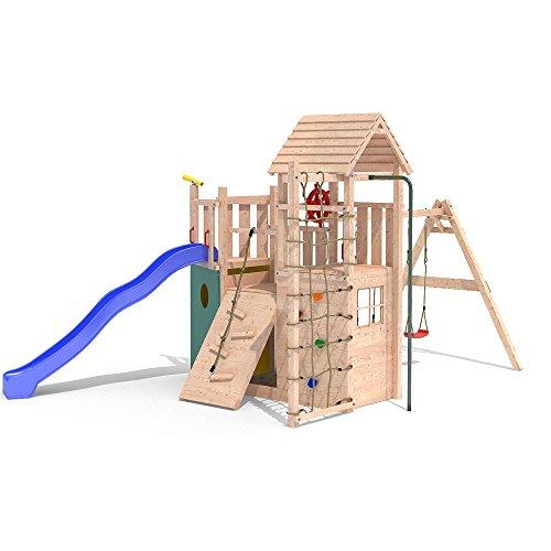 Spielturm KON TIKI NEO 2 Baumhaus Piratenschiff Rutsche 1,50m Podesthöhe (einfacher Schaukelanbau) - 3
