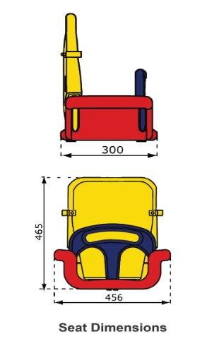 WICKEY Babyschaukel 3 in 1 Babysitz verstellbar und mitwachsend Schaukelsitz (Rot-Gelb-Blau) - 6