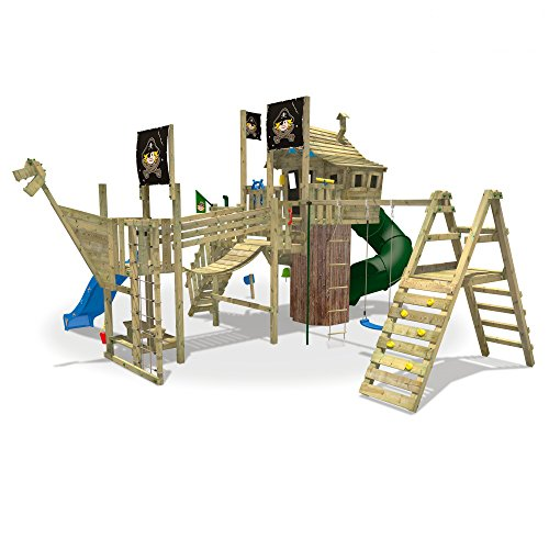 WICKEY NeverLand Gold Edition Delux - Spielturm mit Turborutsche - 2