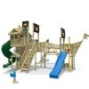 WICKEY NeverLand Gold Edition Delux - Spielturm mit Turborutsche - 1