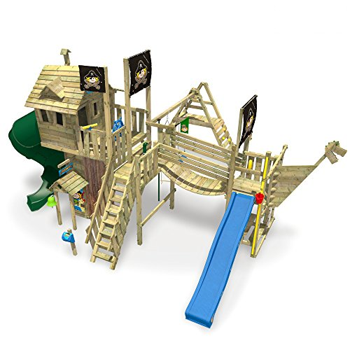 WICKEY NeverLand Gold Edition Delux - Spielturm mit Turborutsche - 3