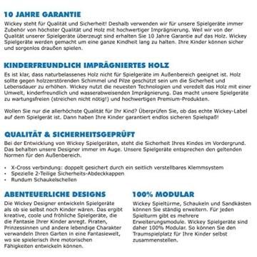 WICKEY Seaflyer Spielturm Rutsche Schaukel Sandkasten (blaue Rutsche / blaue Dachplane) - 5