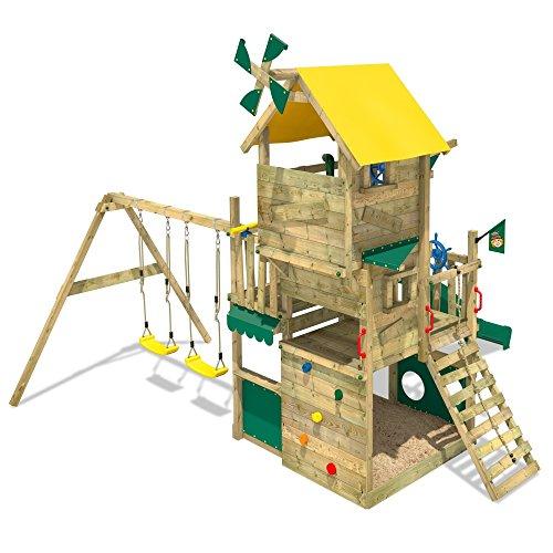 WICKEY Smart Flight Spielturm Kletterturm mit Rutsche Schaukel Sandkasten + Zubehör-Komplettset - 2