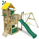 WICKEY Smart Flight Spielturm Kletterturm mit Rutsche Schaukel Sandkasten + Zubehör-Komplettset - 1