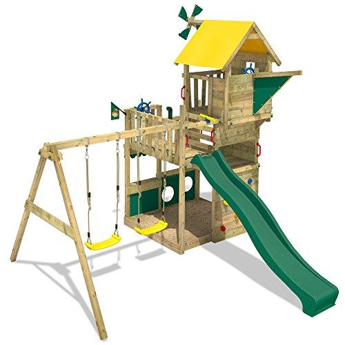 WICKEY Smart Flight Spielturm Kletterturm mit Rutsche Schaukel Sandkasten + Zubehör-Komplettset - 4