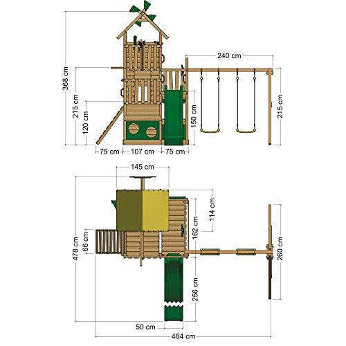 WICKEY Smart Flight Spielturm Kletterturm mit Rutsche Schaukel Sandkasten + Zubehör-Komplettset - 5