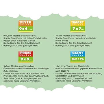 WICKEY Smart King Spielturm Rutsche Schaukel Sandkasten Blaue Rutsche / Blaue und Gelbe Plane - 8