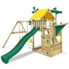 WICKEY Smart Sail Spielturm Rutsche Schaukel Sandkasten Grüne Rutsche / Grüne und Gelbe Plane - 1