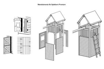 Zubehör: Wandelemente für Gartenpirat Premium Spielturm S, M, L und XL - 2