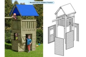 Zubehör: Wandelemente für Gartenpirat Premium Spielturm S, M, L und XL - 3